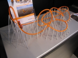 Model of the world first X-Car FlyingLaunch of Bayern Park, the GreenCoaster© concept