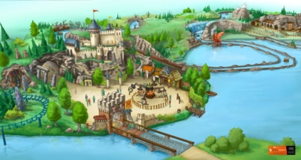 Preliminary concept-art of the theme park.