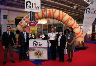 Polin's team at Euro Attractions Show 2011 in London with Sohret Pakis in the center.