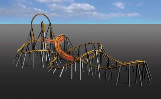 The FlyingLaunch Coaster is a new concept of Green Coaster.