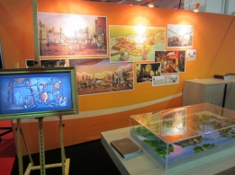 The booth of JoraVision at the Euro Attractions Show 2011