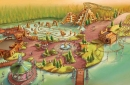 Concept-art of Adventure World Warsaw