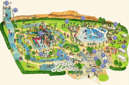 Plan du futur parc aquatique de Las Vegas, Splash Canyon Waterpark.