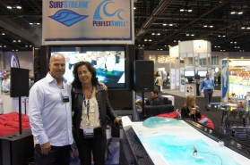 Bruce and Marie McFarland, owners of American Wave Machine