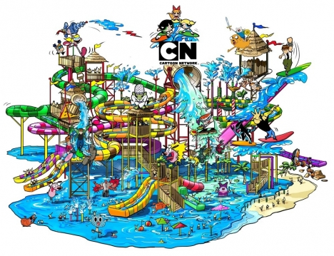 Polin to supply waterslides for Cartoon Network AMAZONE waterpark in Thailand including one of the world's largest interactive water play structure.