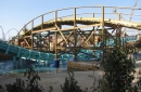The ride crosses two others coasters: Atlantica Supersplash and Blue Fire