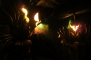 Inside the indoor queue, here the fire giants