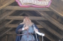 Viking animatronic welcomes visitors at the ride entrance