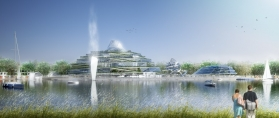 Concept-art of the water park scheduled to open with Villages Nature in 2015