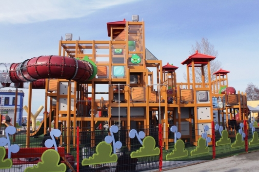 The main element of Angry Birds Land is a playground