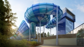 A World First waterslide by ProSlide scheduled to open late 2012 at Center Parcs Elveden Forest