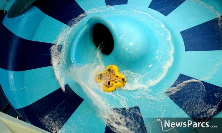 Newsparcs a world first waterslide by proslide scheduled for Center parc piscine