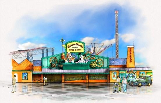 Artist impression impression of the frontage of Thrill-O-Matic