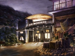 Concept-art de l'entrée de l'attraction Wonders!