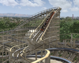 California's Great America ouvrira un wooden coaster de Great Coasters International en 2013: Gold Striker