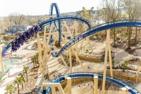 In France, the company designed an inverted coaster with 5 inversions at Parc Astérix: OzIris