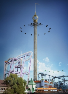 The attraction will culminate at 121 meters-height (approx 397 feet)