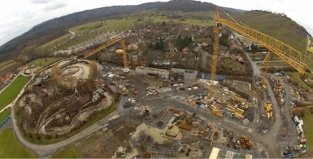 Aerial view of Karacho's construction site. The opening is scheduled in June.