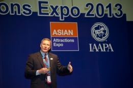 IAAPA also highlighted the success of its conference program and special events. Photo: Ocean Park Hong Kong CEO Tom Mehrmann during the Leadership Breakfast.