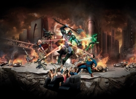 Warner Bros. Movie World continues to anchor the division with an attendance exceeding 2 million guests. Photo: Justice League 3D interactive dark ride opened during the fiscal year.