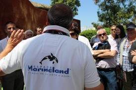 The annual meeting ended with tours of Espace Marineland's facilities (here a visit of the water park)